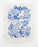 Porcelain Tea Towel - Blue