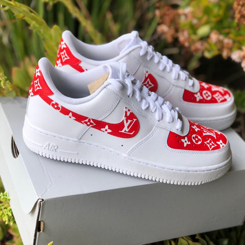 "Air Force 1 ""Supreme L V"" (with front and back tab) Customs"