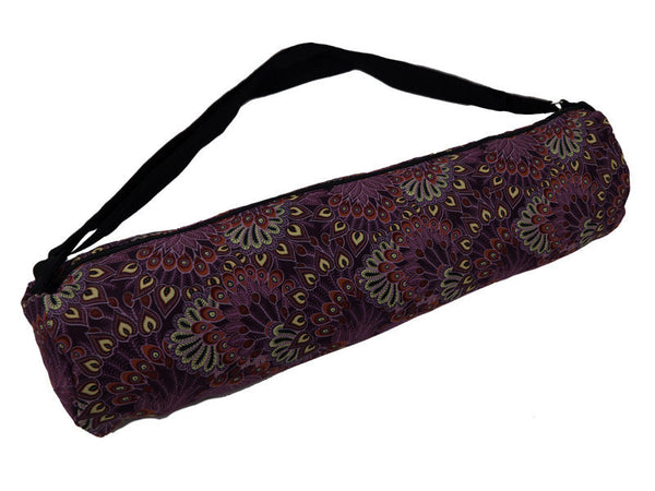 Purple Peacock Yoga Mat Bag - Global Groove (Y)