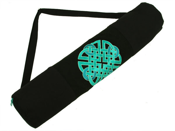 Teal Celtic Knot Yoga Mat Bag - Global Groove (Y)