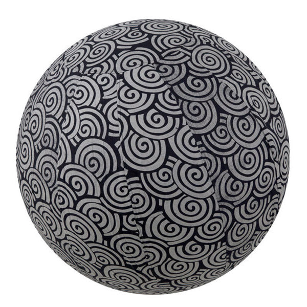 Yoga Ball Cover Size 55cm Design Black Swirl - Global Groove (Y)