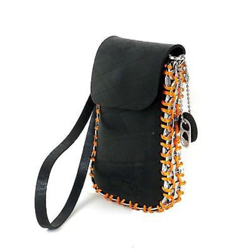 Tire and Poptop Smartphone Bag - Orange Handmade and Fair Trade