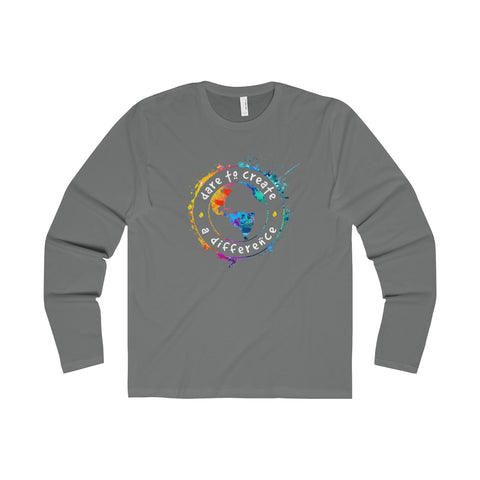 Dare To Create A Difference Men's Premium Long Sleeve Crew - World