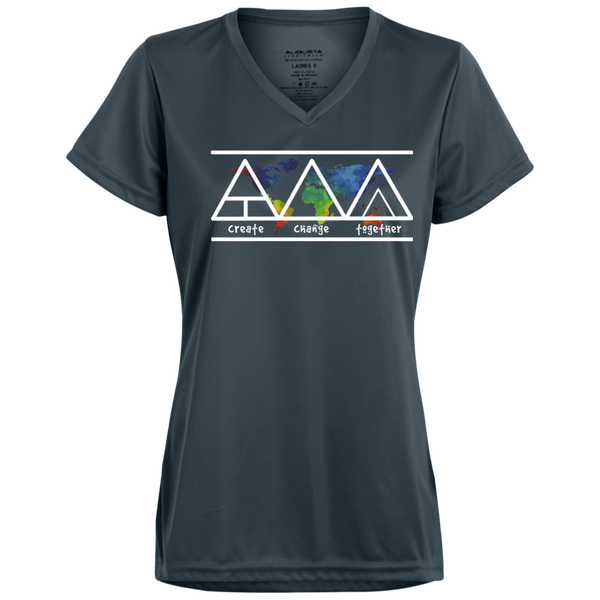 Create Change Together - Augusta Ladies' Wicking T-Shirt