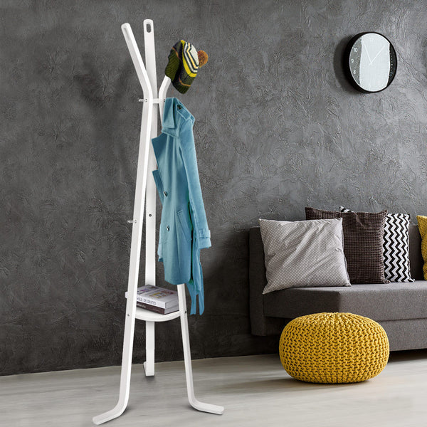 Wood Coat Stand (White) - FREE SHIPPING AUSTRALIA WIDE - Darkhorse Creations