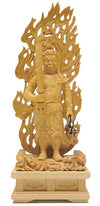 Deluxe Hand Carved Fudo Myo Statue SMALL