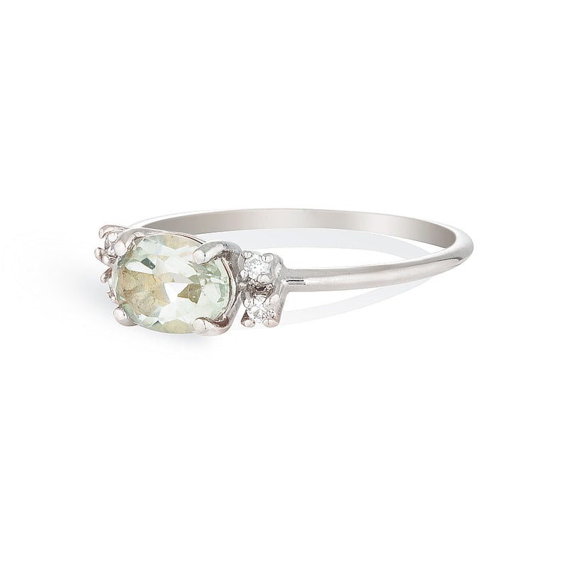 Penelope | green amethyst & diamonds