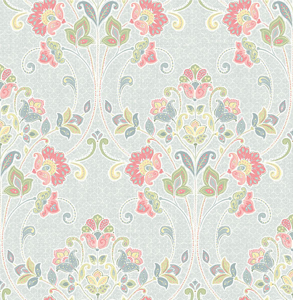 Willow Sky Nouveau Floral Wallpaper