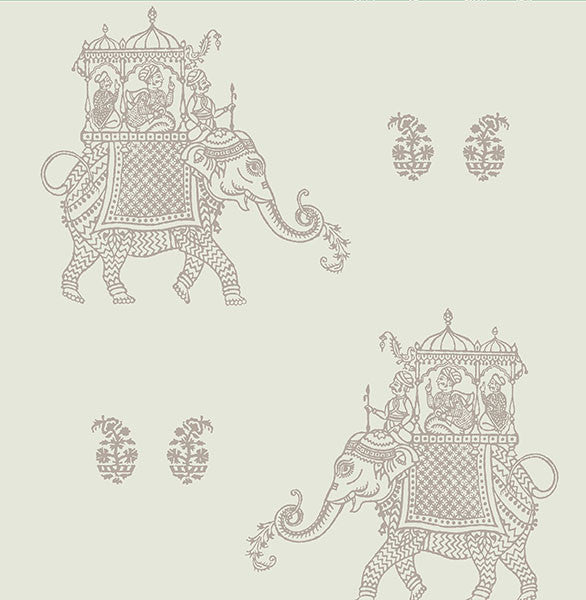 Ophelia Grey Elephant Wallpaper