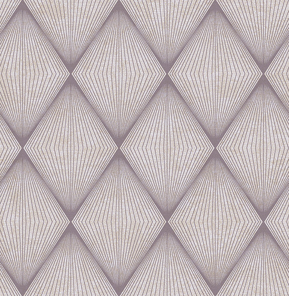 Apothem Plum Geometric Wallpaper
