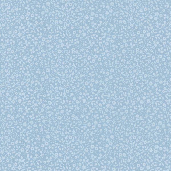 Light Blue Mini Floral Toss Wallpaper