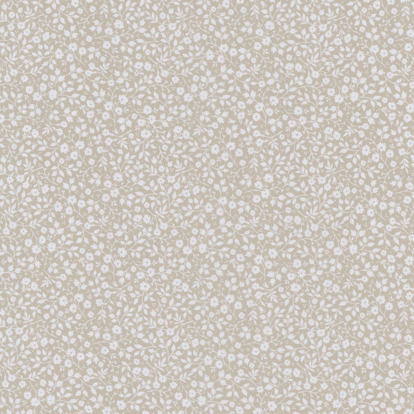 Beige Mini Floral Toss Wallpaper
