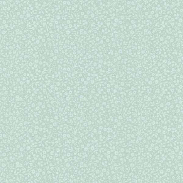 Light Green Mini Floral Toss Wallpaper