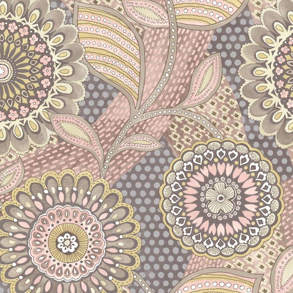 Catalunya Blush Kaleidoscope Floral Wallpaper