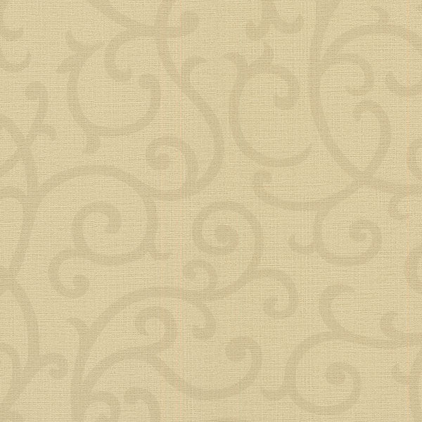 Silhouette Light Brown Vine Wallpaper