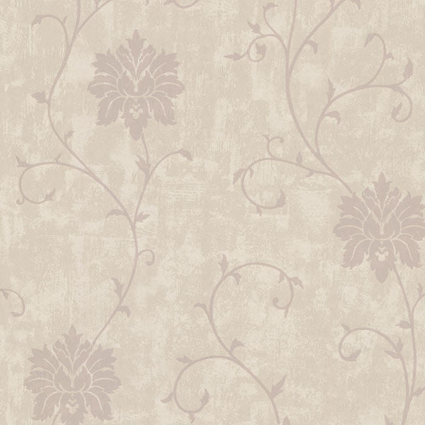 Dahli Taupe Floral Trail Wallpaper