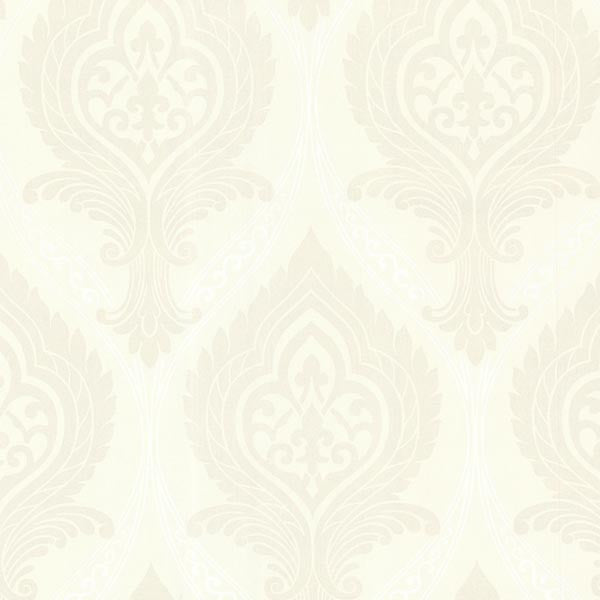 Acasta Ivory Damask Wallpaper