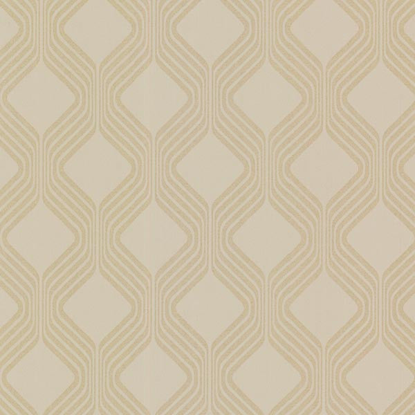 Alcaston Grey Geometric Ogee Wallpaper
