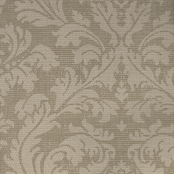 Bergamo Beige Damask Texture Wallpaper