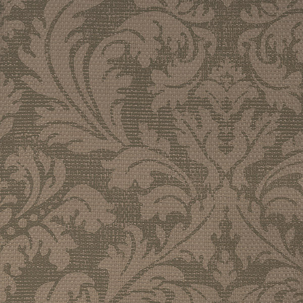Bergamo Light Brown Damask Texture Wallpaper