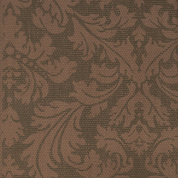 Bergamo Tawny Damask Texture Wallpaper