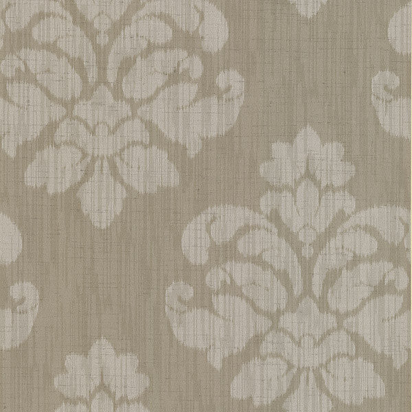 Mallory Taupe Ikat Medallion Wallpaper