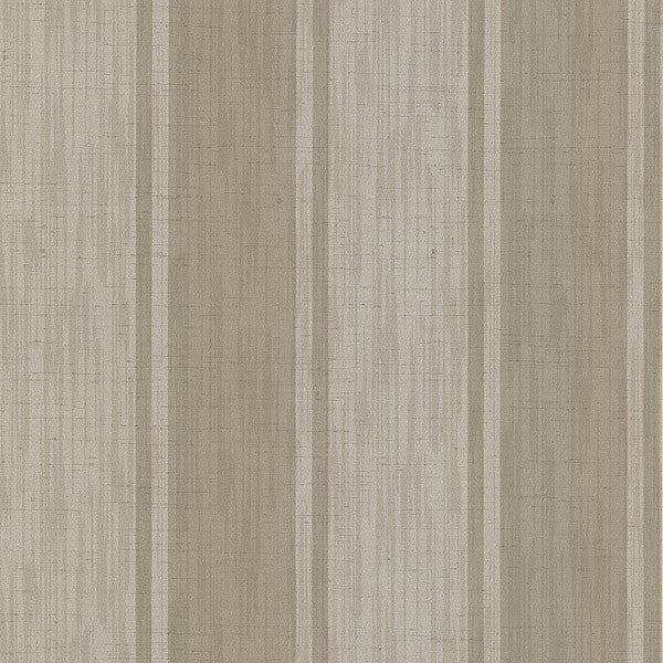 Mandalay Taupe Ikat Stripe Wallpaper