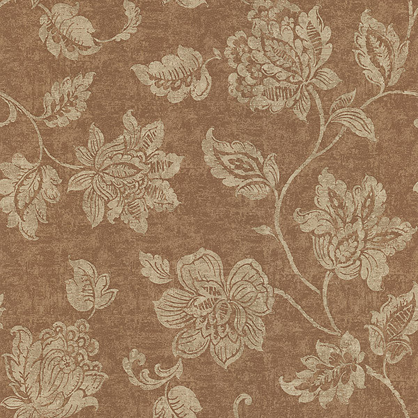 Sorrento Tawny Jacobean Wallpaper