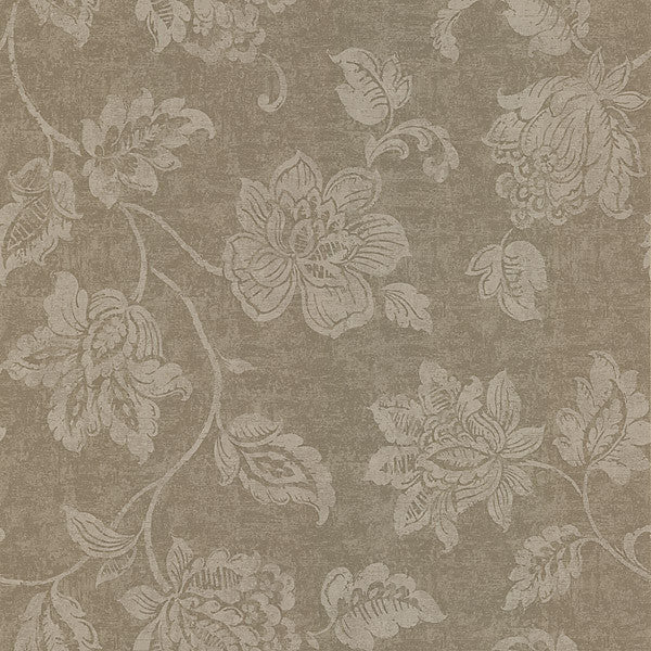 Sorrento Taupe Jacobean Wallpaper