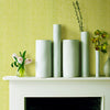 Leda Light Green Swirl Stria Wallpaper