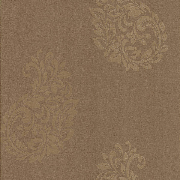 Baja Brown Paisley Spot Wallpaper
