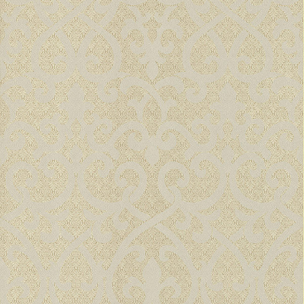 Giselle Gold Ironwork Damask Wallpaper