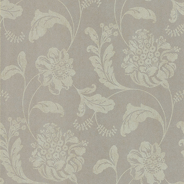 Aaliyah Pewter Affabre Jacobean Wallpaper
