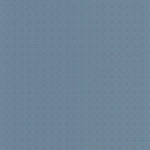 Tangine Blue Mini Moroccan Geometric Wallpaper