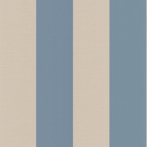 Purcell Blue Stripe Wallpaper