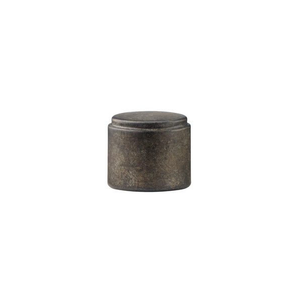 Resin Cylinder End Cap - Tarnished Metal For 1.375