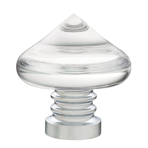Acrylic Teardrop Finials - Mirrored Chrome
