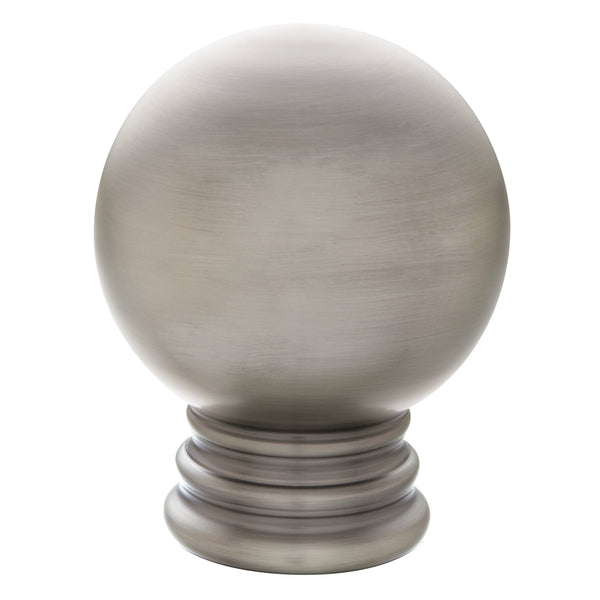 Metal Ball Finials - Antique Pewter