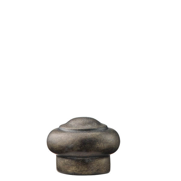 Resin End Cap Finials - Tarnished Metal