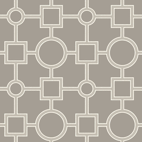 Utopia Geo Taupe Peel and Stick Wallpaper