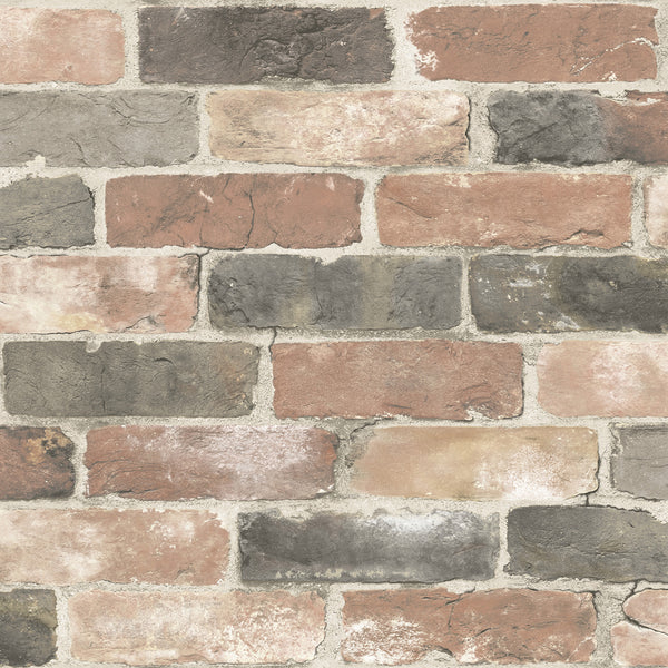 Newport Reclaimed Brick Red Faded Peel and Stick Wallpaper