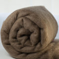 Merino Wool Carded Batt - Natural Fawn-7 oz