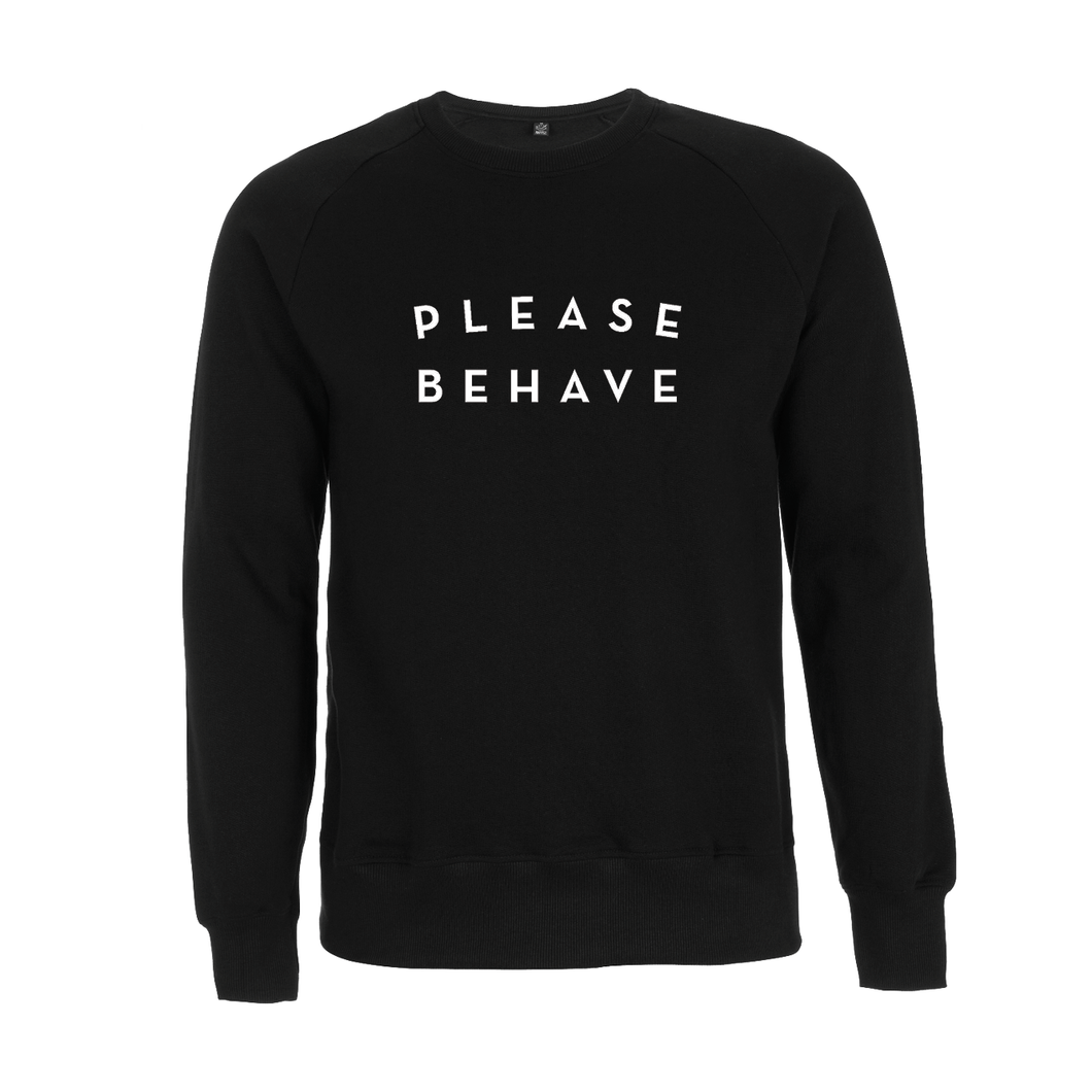 SWEATER - PLEASE BEHAVE - long sleeves - Black