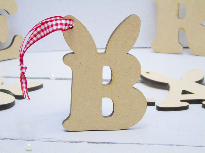 Bunny Ear Letter Easter Decorations - 9cms