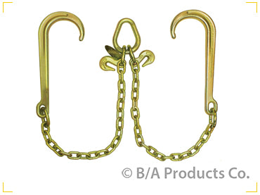 "Bridle, V-Chain W/ 15"" Classic Style J Hooks"