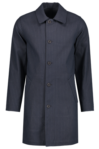Full Front Image Manteau Double Dark Navy Coat