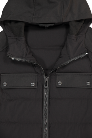 Collar and hood detail of Belstaff Harlyn Jacket Black