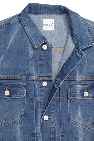 Collar Detail Denim Jacket