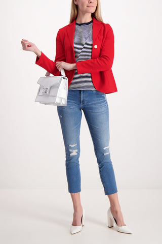 Short Boyfriend Cotton Jacquard Jacket