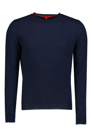 Front Image Navy Crewneck Sweater